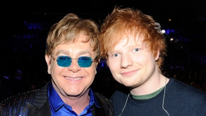 Elton John and Ed Sheeran are hoping to top the charts this Christmas