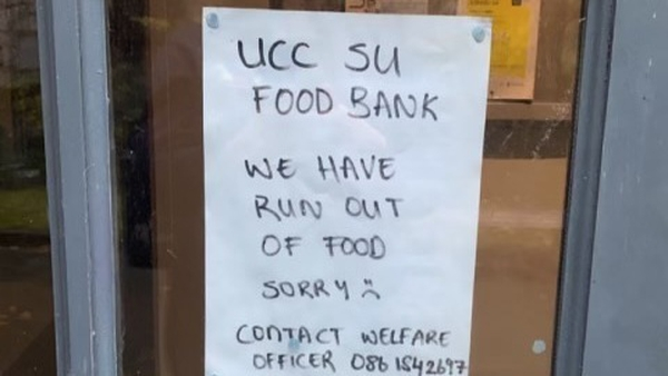 The students' union had planned to open the food bank again next Wednesday but given the demand, hope to be able to look after these students tomorrow