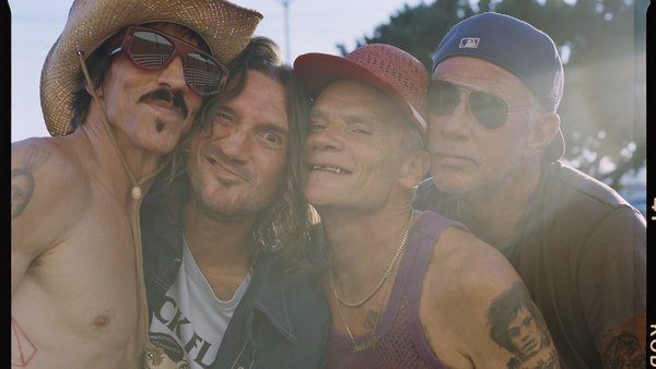 Red Hot Chili Peppers, with second from left