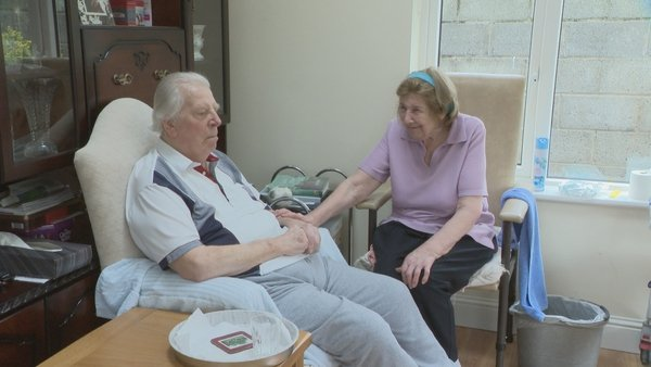 Joan Fisher is her husband Robin's main carer