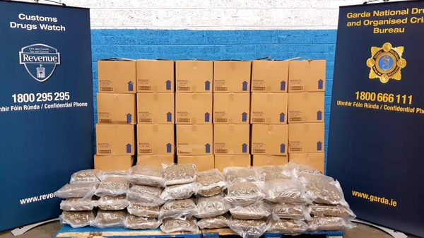 The drugs have an estimated street value of €1.18m