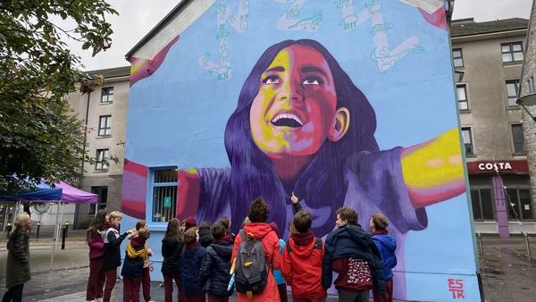 Mural by international street artist Emmeline Blake