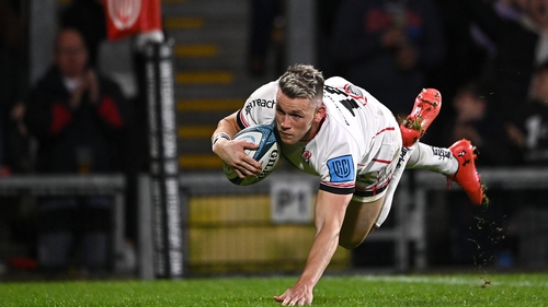 Craig Gilroy scored Ulster's first try of the night
