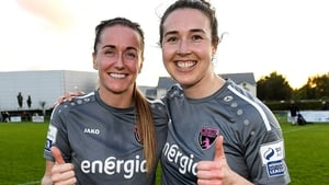 Wexford Youths players Kylie Murphy, left, who claimed a brace and Lynn Marie Grant who scored one goal