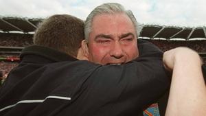 Joe Kernan celebrates All-Ireland success in 2002