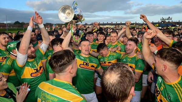 Dunloy celebrate their third consecutive title