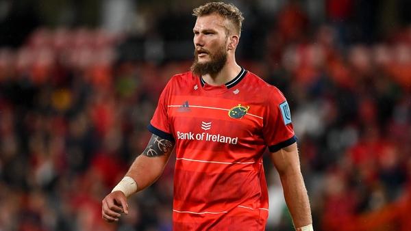 RG Snyman got injured in Munster's clash in Wales