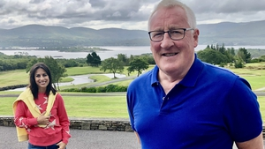 Lucy Kennedy and Pat Spillane