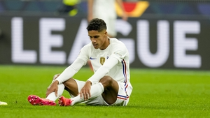 Raphael Varane picked up a going injury on international duty