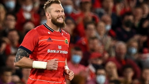 RG Snyman was making just his fourth Munster appearance