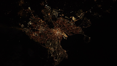Dublin pictured from space (Pic: Shane Kimbrough)