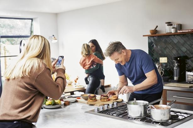 Gordon Ramsay in the kitchen