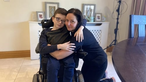 Adam Terry, pictured with his mother Christine, asked the Taoiseach to 'please ensure I get the treatment and after care I so desperately need'