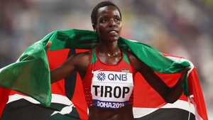 Agnes Tirop ran in the 5,000m at the Tokyo Olympics and finished fourth in the final after clocking 14:39.62