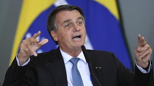 Jair Bolsonaro says he 'already has the highest immunisation' (file image)