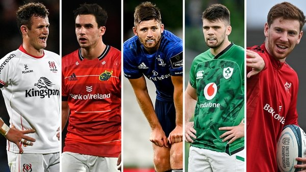 Billy Burns, Joey Carbery, Ross Byrne, Harry Byrne and Ben Healy are among the contenders for Johnny Sexton's long term replacement