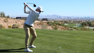 Rory McIlroy in action in Las Vegas