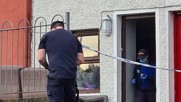 Gardaí at the scene in Cork