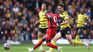 Sadio Mane tucks home Liverpool's opener