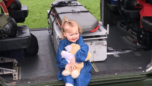 Two-year-old Therese Hickey has made a full recovery