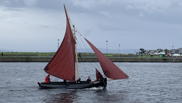 The refurbished boat made its return to Galway Harbour this afternoon