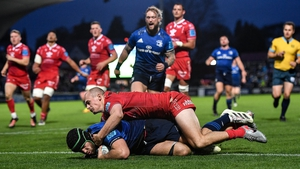 Caelan Doris touches down for Leinster's fourth try