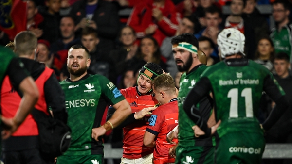 Chris Cloete's controversial try gave Munster a 7-6 half time lead