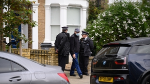 Police searched the home of the suspect in David Amess' killing in London today