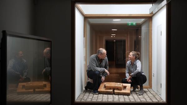 Ulrike Gasser, Director of the Goethe Institut and Gerard Byrne, Professor of Film at Städelschule