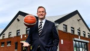 John Feehan outside the National Basketball Arena, following his appointment as CEO