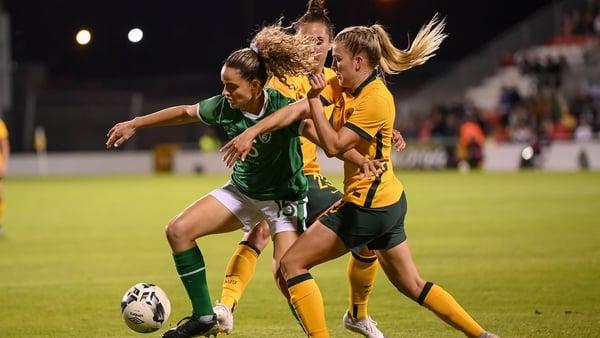 Leanne Kiernan in action in last month's 3-2 friendly win over Australia