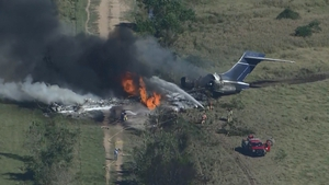 Local reports said the aircraft was taking fans to watch a play-off baseball game