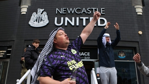 Newcastle United fans welcomed their new owners from Saudi Arabia