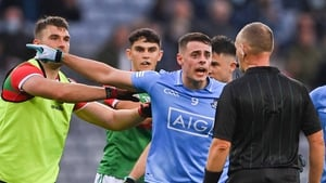 Howard during the tense closing stages of this year's semi-final defeat to Mayo