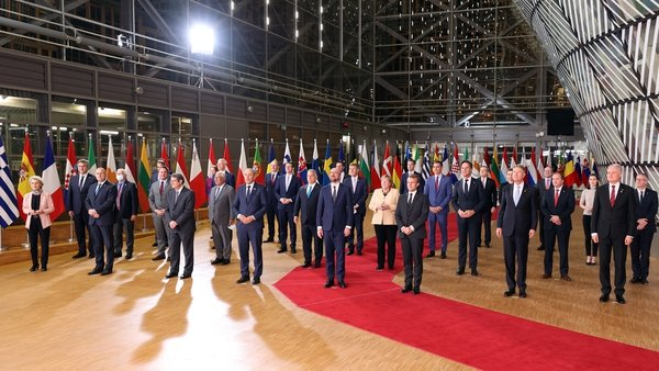 EU leaders spent two hours discussing the Polish constitutional court's ruling that Poland's constitution had primacy over EU law