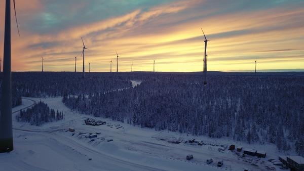The Ersträsk South Wind Farm in Sweden