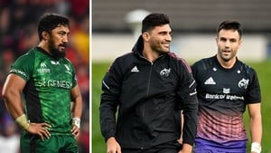 Bundee Aki is out for Connacht while Damian de Allende and Conor Murray return for Munster