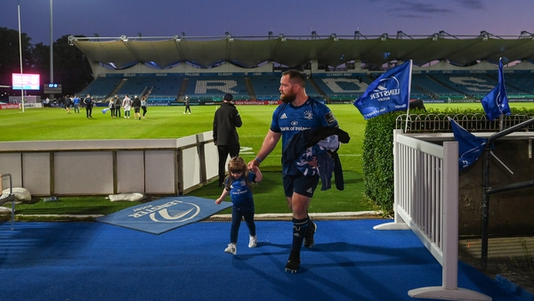 Bent with his daughter Emme after his final game for the province in June 2021