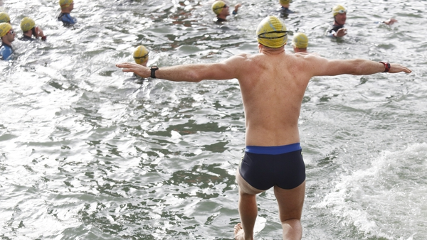 500 men and women braved the cold water in Dublin today