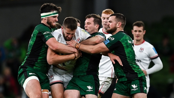 Conor Oliver (right) was Man of the Match for Connacht