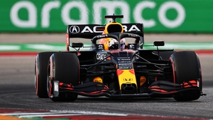 Max Verstappen will start at the front of the grid
