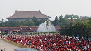 The Beijing half marathon was held in April