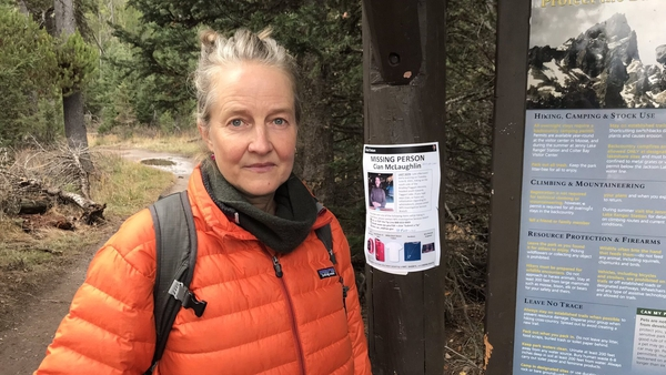 Gráinne McLaughlin, her brother and partner are still searching Grand Teton National Park