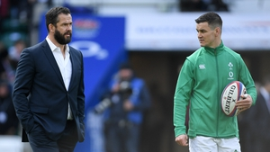 Johnny Sexton looks set to be Andy Farrell's first-choice out-half next month