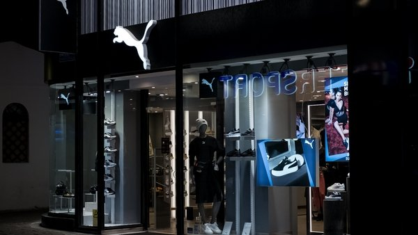Puma said its sales jumped 31% in the Americas and 22% in Europe, Middle East and Africa