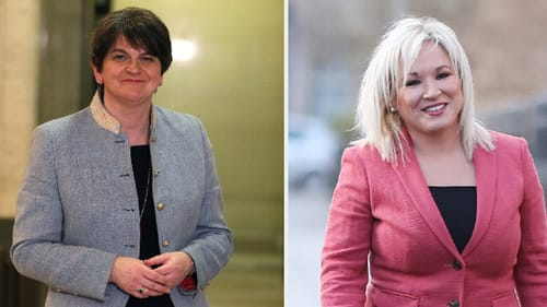 Arlene Foster resumes the role of First Minister and Michelle O'Neill is now Deputy First Minister