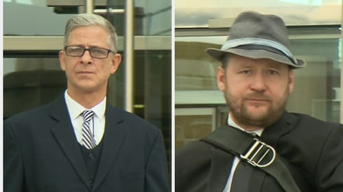 Brian Stacey (l) and Ronan Stephens (r) were released pending an appeal to a higher court