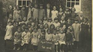 Schoolchildren from Cullen School, Co. Tipperary in July 1938. Photo: Dúchas