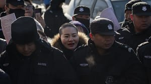 Li Wenzu announced news of her husband's release from prison
