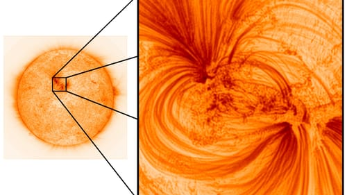 The images provide astronomers with a better understanding of the sun's complex atmosphere  (Pic: University of Central Lancashire)